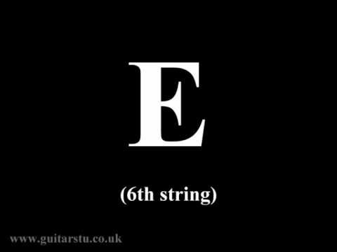 Guitar Tuning Notes – Standard EADGBE