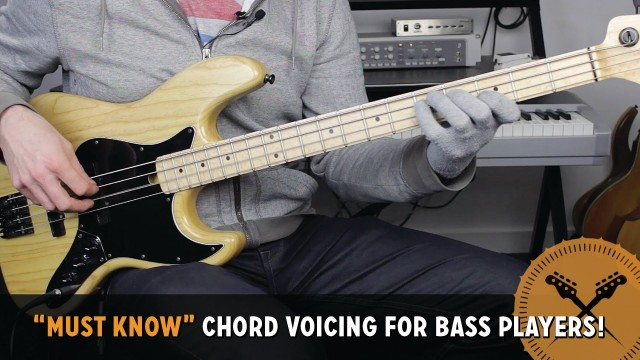 """""""Must Know"""" Chord Voicing for Bass Players! /// Bass Lesson with Scott Devine"""